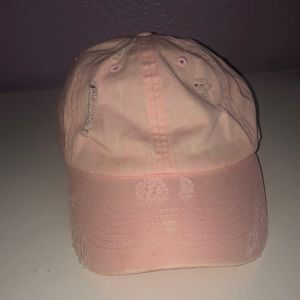 Baby pink ripped hat